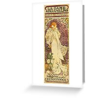 Alphonse Mucha - Lady Of The Camellias Greeting Card