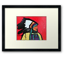 Chief Profile Framed Print