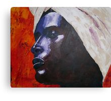 Waris Dirie - Open your eyes for my world Canvas Print