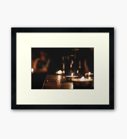 Candlelight peace Framed Print