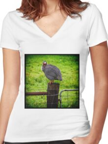 Fowl Play Women's Fitted V-Neck T-Shirt