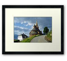 St. Olaf church - Balestrand - Norway Framed Print