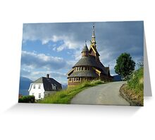 St. Olaf church - Balestrand - Norway Greeting Card