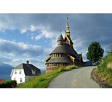 St. Olaf church - Balestrand - Norway Photographic Print
