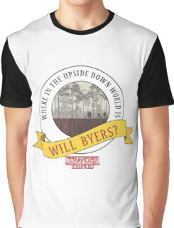 Stranger Things - Where In The Upside Down World Is Will Byers? Graphic T-Shirt