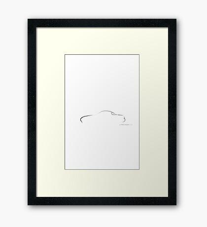 Profile Silhouette Mazda Miata - black Framed Print