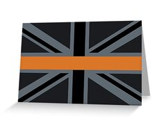Search and Rescue Orange Line Union Jack Greeting Card