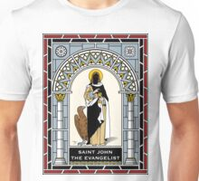 ST JOHN THE EVANGELIST under STAINED GLASS Unisex T-Shirt