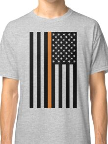 Search and Rescue Orange Line US Flag Classic T-Shirt