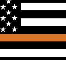 Search and Rescue Orange Line US Flag Sticker