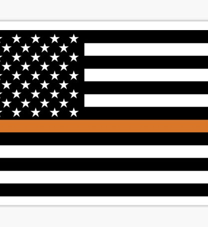 Search and Rescue Orange Line US Flag Sticker