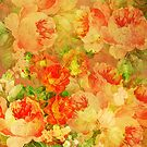 Vintage Roses Collage Pastel Pink & Red by artonwear