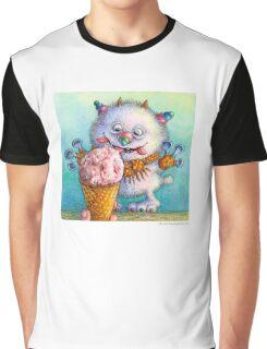 Ice Cream Monster Graphic T-Shirt