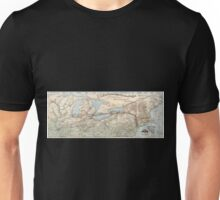 0321 Railroad Maps The New York Central Hudson River R R and Unisex T-Shirt