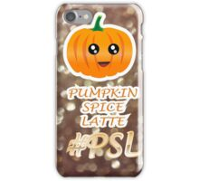 Pumpkin Spice Latte (#PSL) Weather iPhone Case/Skin