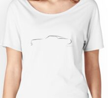 Profile Silhouette Mustang Mach 1 - black Women's Relaxed Fit T-Shirt
