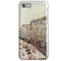 Camille Pissarro - Mardi Gras on the Boulevards (1897)  iPhone Case/Skin
