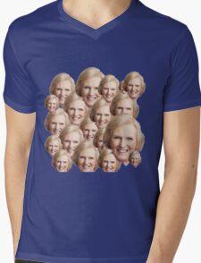 Mary Berry Print  Mens V-Neck T-Shirt