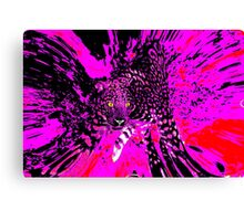 A Splash of Purple Leopard Canvas Print