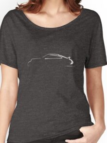 Profile Silhouette Porsche 911RS - white Women's Relaxed Fit T-Shirt