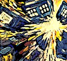 Exploding Tardis Sticker