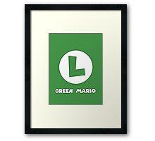 Green Mario (Luigi). Framed Print