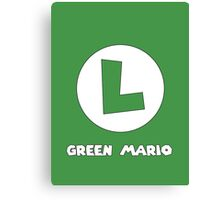 Green Mario (Luigi). Canvas Print