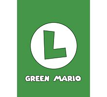 Green Mario (Luigi). Photographic Print