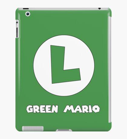 Green Mario (Luigi). iPad Case/Skin