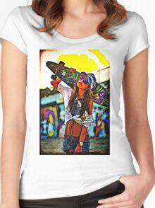 Longboard Girl  Women's Fitted Scoop T-Shirt