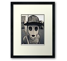 Baseball mask Framed Print