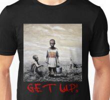 Banksy children tshirt graff GET UP! (Red Font) Unisex T-Shirt