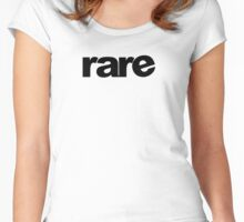 """rare"" Custom Graphic Tee Mens and Womens Women's Fitted Scoop T-Shirt"