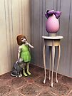 The egg (version with little girl) by Roberta Angiolani