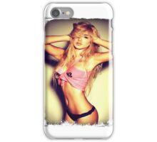 Blonde girl sexy t-shirt iPhone Case/Skin