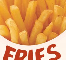 fries before guys sticker Sticker