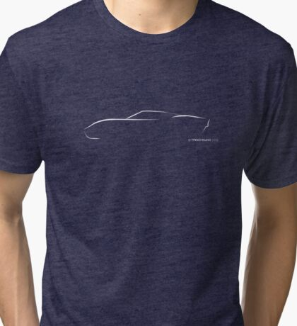 Profile Silhouette GT40 - white Tri-blend T-Shirt