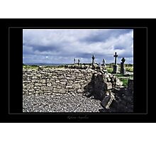 cemetery and dry stone wall Photographic Print