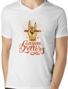 League of Letters Mens V-Neck T-Shirt