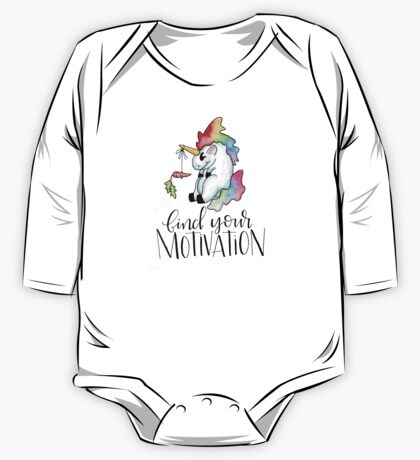 Tubby Unicorn finds motivation One Piece - Long Sleeve