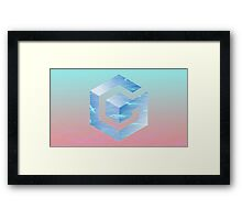 GameCube Vaporwave Framed Print