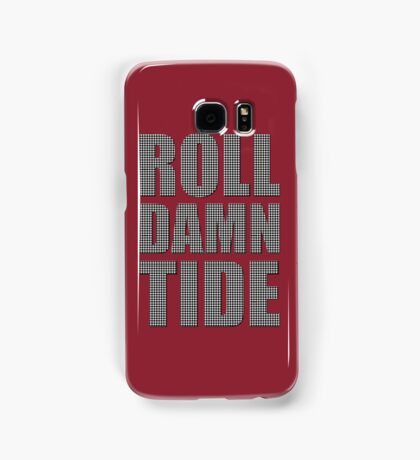 Houndstooth Roll Damn Tide Samsung Galaxy Case/Skin