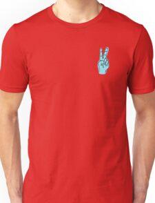 Peace Hand - Blue Unisex T-Shirt