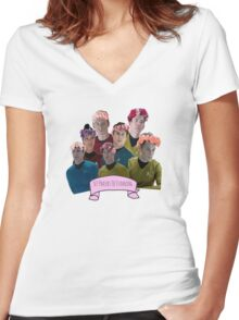 Set Phasers To Stunning Women's Fitted V-Neck T-Shirt