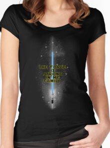 """""""The Force is Strong in my Family"""" - English Women's Fitted Scoop T-Shirt"""