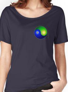 Yin Yang Flat Earth Women's Relaxed Fit T-Shirt