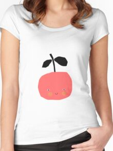 Happy Apple - Red Women's Fitted Scoop T-Shirt