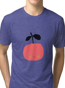 Happy Apple - Red Tri-blend T-Shirt
