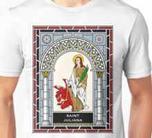 ST JULIANA OF NICOMEDIA under STAINED GLASS Unisex T-Shirt