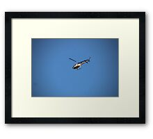Channel 9 Helicopter Framed Print